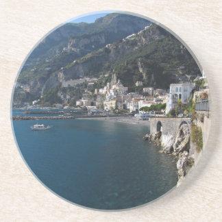 Vista de la costa de Amalfi Posavasos Personalizados