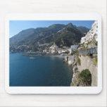 Vista de la costa de Amalfi Tapete De Ratón