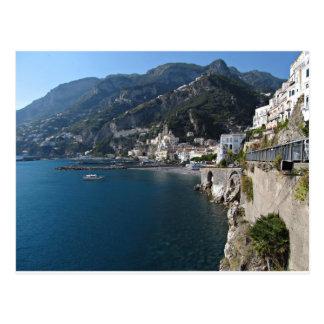 Vista de la costa de Amalfi Postal