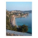 Vista de la costa francesa tarjetas postales