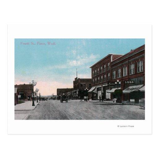 Vista de la cuarta calle tarjeta postal