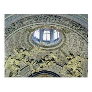 Vista de la cúpula con los músicos del ángel postal