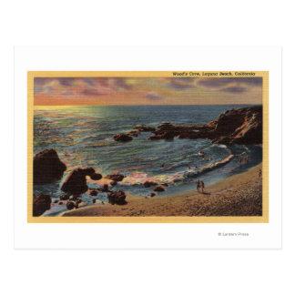 Vista de la ensenada de madera tarjetas postales