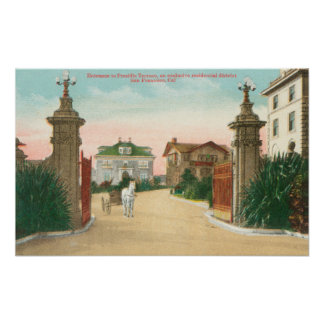 Vista de la entrada a la terraza de Presidio Impresiones