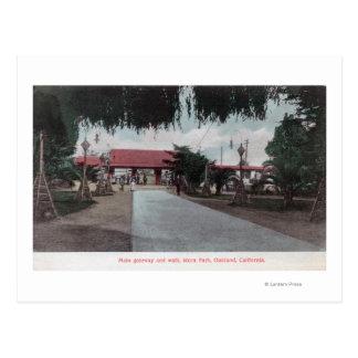 Vista de la entrada principal a Idora ParkOakland, Tarjetas Postales