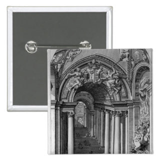 Vista de la escalera en el Scala Regia Pin