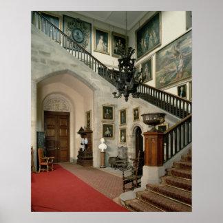 Vista de la escalera Pasillo, 1812-15 Impresiones