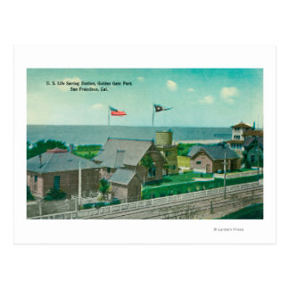 Vista de la estación de la salvación de vidas de tarjetas postales