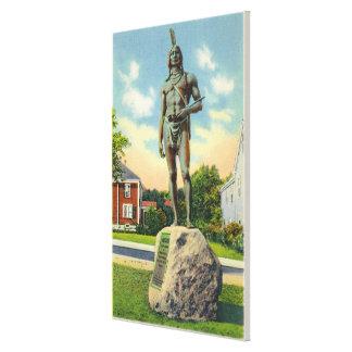 Vista de la estatua de Massasoit # 2 Impresión En Lienzo Estirada
