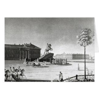 Vista de la estatua de Peter el grande Tarjeta De Felicitación