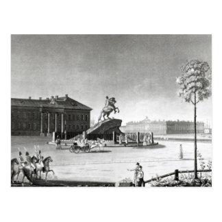 Vista de la estatua de Peter el grande Tarjeta Postal