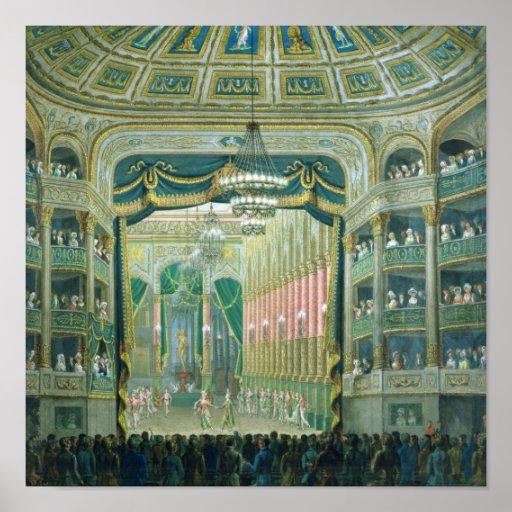 Vista de la etapa de la ópera de París Impresiones