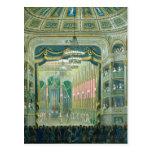 Vista de la etapa de la ópera de París Postal