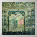 Vista de la etapa de la ópera de París Póster