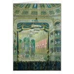 Vista de la etapa de la ópera de París Felicitación