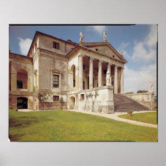 Vista de la fachada, c.1566-67 póster