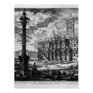 Vista de la fachada de la basílica del lat de St. Tarjetas Postales