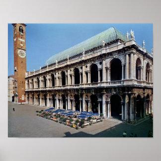Vista de la fachada de la basílica Palladiana Impresiones
