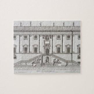 Vista de la fachada de Palazzo Senatorio en plaza Puzzle Con Fotos