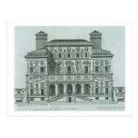 Vista de la fachada del chalet Borghese, Roma (eng Tarjetas Postales