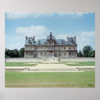 Vista de la fachada del este de Chateau de Maisons Póster