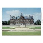 Vista de la fachada del este de Chateau de Maisons Tarjeta De Felicitación