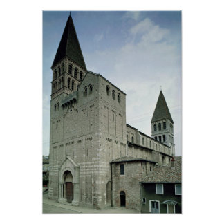 Vista de la fachada del oeste, 10mo-11mo siglo póster