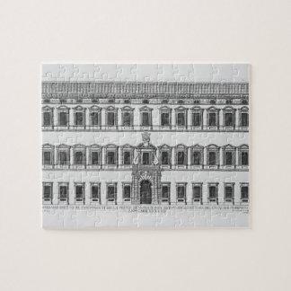 Vista de la fachada del palacio de Lateran, Roma,  Rompecabezas