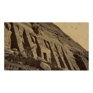 Vista de la fachada del pequeño templo en Abū Tarjetas De Visita