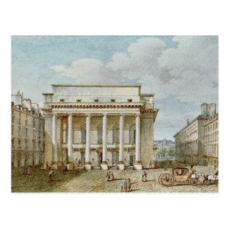 Vista de la fachada del teatro Italien Tarjetas Postales