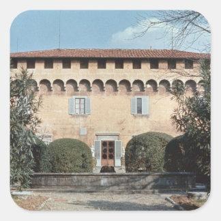 Vista de la fachada, diseñada para Cosimo Pegatina Cuadrada