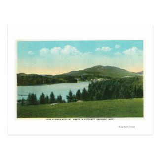 Vista de la flor del lago con el panadero del Mt. Postal