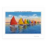 Vista de la flota del velero del arco iris postales