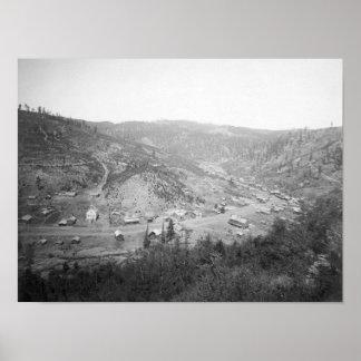 Vista de la galena, fotografía de Dakota del Sur Posters