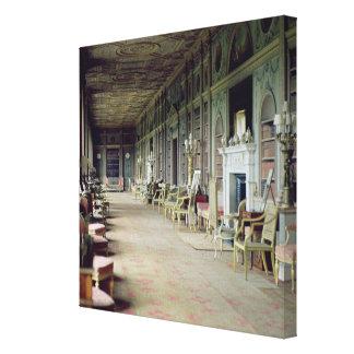 Vista de la galería larga lienzo envuelto para galerías