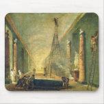 Vista de la galería magnífica del Louvre Tapete De Ratón