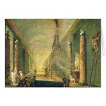 Vista de la galería magnífica del Louvre Tarjeta De Felicitación