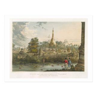 Vista de la gran pagoda de Dagon en Rangoon del Tarjeta Postal