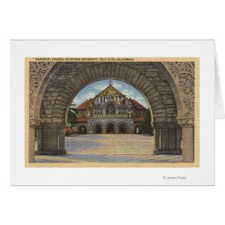 Vista de la iglesia conmemorativa, Stanford U. Felicitación