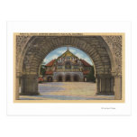 Vista de la iglesia conmemorativa, Stanford U. Tarjeta Postal