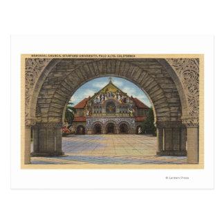 Vista de la iglesia conmemorativa, Stanford U. Postal