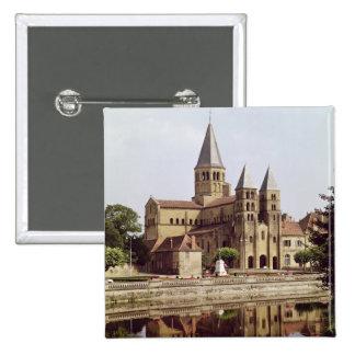 Vista de la iglesia de Notre-Dame Pin Cuadrada 5 Cm