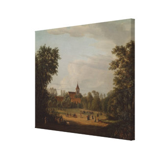 Vista de la iglesia del pueblo, Pankow, 1835 Impresiones De Lienzo