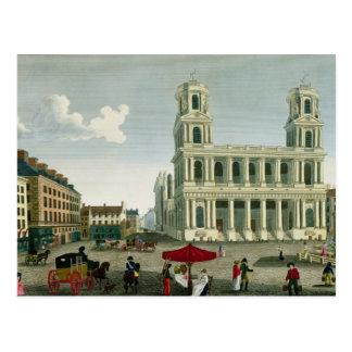 Vista de la iglesia del Santo-Sulpice Postales