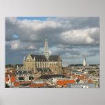 Vista de la impresión del poster de Haarlem