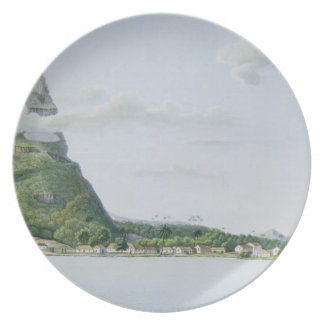 Vista de la isla de Bora Bora, del 'auto del viaje Platos