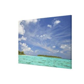 Vista de la isla de Funadoo de Funadovilligilli 3 Lienzo Envuelto Para Galerías