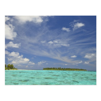 Vista de la isla de Funadoo de Funadovilligilli 3 Tarjetas Postales