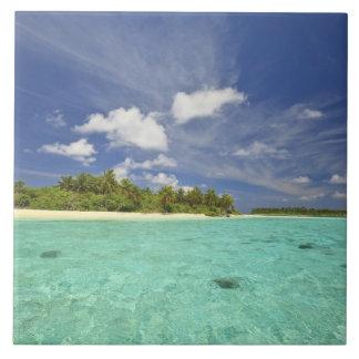Vista de la isla de Funadoo de Funadovilligilli Azulejo Cuadrado Grande