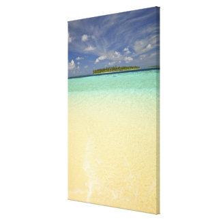 Vista de la isla de Funadoo de Funadovilligilli Impresión En Lona